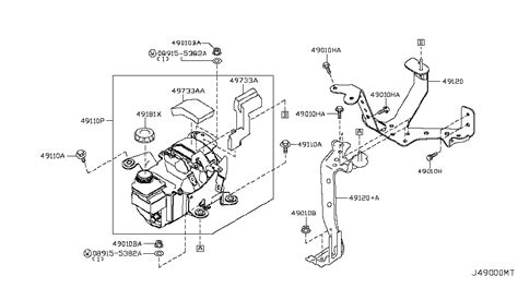 Jad Genuine Nissan Pump Assy Power