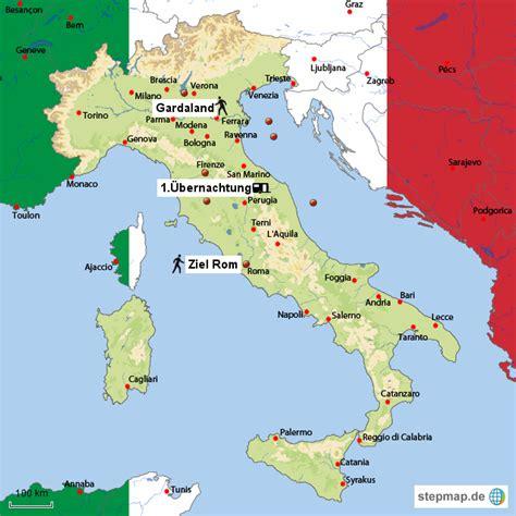 italien urlaubsziele karte kleve landkarte