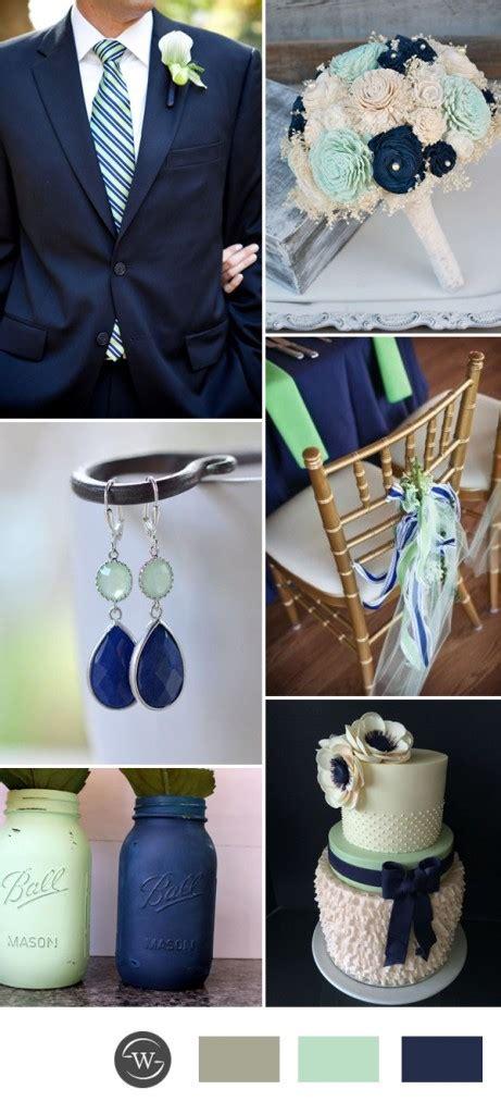 inspirasi kombinasi warna tema pernikahan navy blue