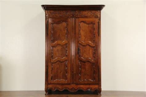 Cherry Wood Wardrobe Closet by Sold Country Provincial 1780 Antique Cherry