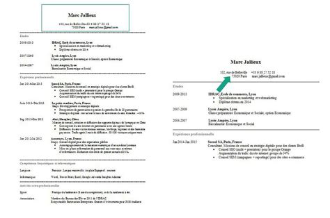 Comment Faire Un Cv Exemple by Faire Cv Model Cv Jaoloron