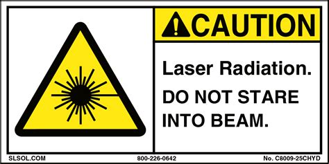 laser light warning label caution laser radiation