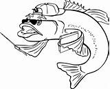 Fish Coloring Pages Draw sketch template