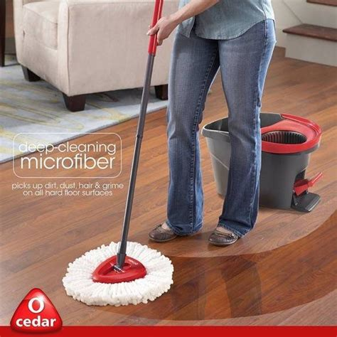 O-Cedar EasyWring Spin Mop And Bucket System | GadgetKing.com