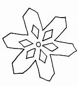 Snowflake Simple Coloring Pages Easy Snowflakes Clipart Drawing Outline Flake Colouring Printable Winter Templates Clip Pattern Draw Sheet Transparent Cliparts sketch template