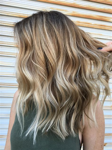 Medium Hairstyles With Highlights by Balayage Layers Medium Length Choppy Hair