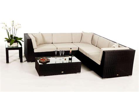 gartenmoebel rattan lounge shangrila lounge in braun rattan gartenm 246 bel set f 252 r