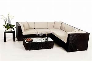Gartenmöbel Lounge Rattan : shangrila lounge in braun rattan gartenm bel set f r ~ Indierocktalk.com Haus und Dekorationen