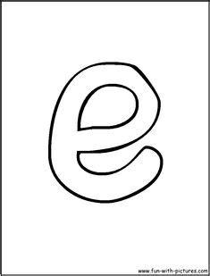 E Bubble Letter
