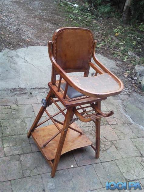 chaise haute en bois ancienne chaise haute ancienne annonce pour bébé béziers