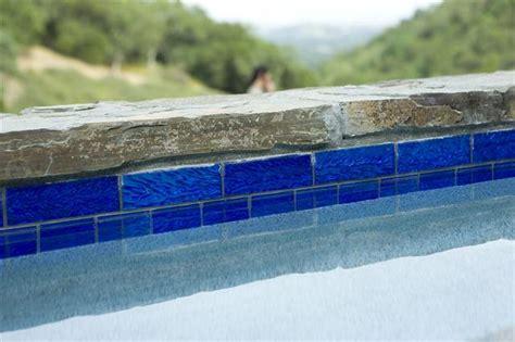 lightstreams custom glass pool tile a fleur de lys