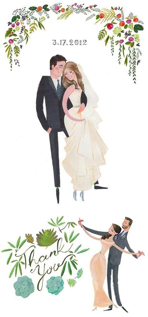 Draw Me In Ink Custom Drawn Wedding Portraits Wedding