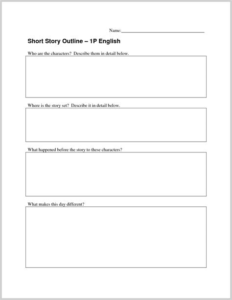 Story Outline Template Top Story Outline Template 319276 Resume Ideas