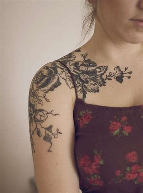 sublime flower shoulder tattoos  designs