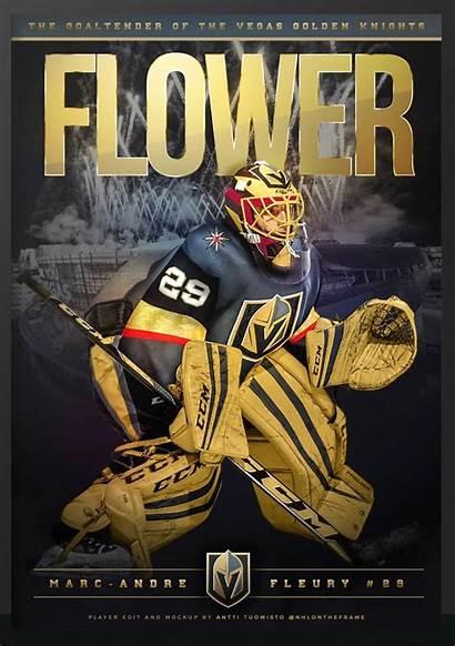 Knights Vegas Golden Las Hockey Flower Fleury