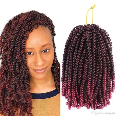 2019 Crochet Braids Ombre Spring Twist Hair Kanekalon