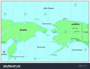Sea Maps Series Bering Sea Stock Illustration 5456734 ...