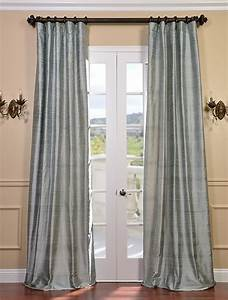 Shoreline textured dupioni silk curtain traditional for Silk curtains texture