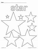 Coloring Stars Shape Worksheet sketch template