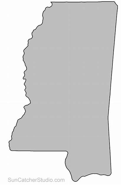 Clipart Mississippi Outline State Map Pattern Patterns