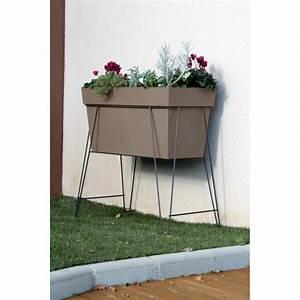Jardiniere Sur Pied Plastique : bac jardini re rectangulaire sur lev ~ Dode.kayakingforconservation.com Idées de Décoration