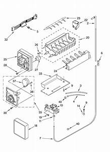 Ice Maker Diagram  U0026 Parts List For Model Ksru22fkwh03 Kitchenaid