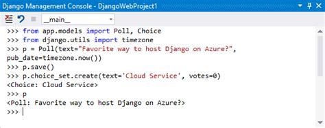 Django Web Project Template For Python  Visual Studio