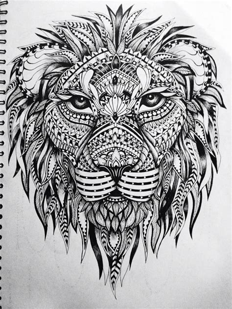 lion zentangle recruitment school spirit pinterest