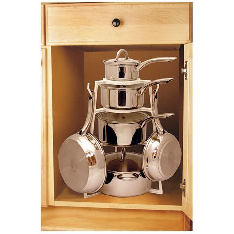 organizer cookware pan under counter range tree kleen pot pantree storage cabinet pots kitchen racks pans organization shelf cabinets hanging