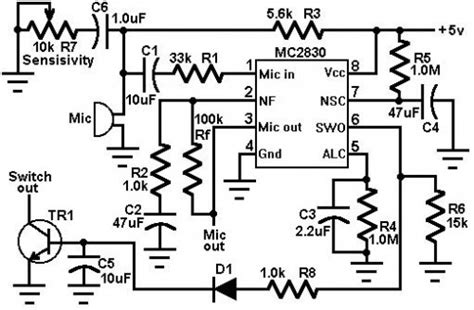 Voice Activated Switch Circuit Diagram Instructions