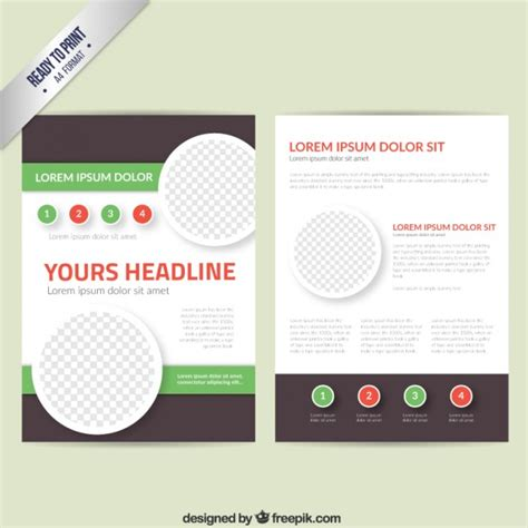 Leaflet Template by Leaflet Template Vector Free