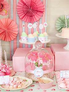 Kara's Party Ideas Shabby Chic Princess Girl Pink Vintage
