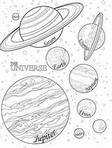 Coloring Nebula Planets Template sketch template