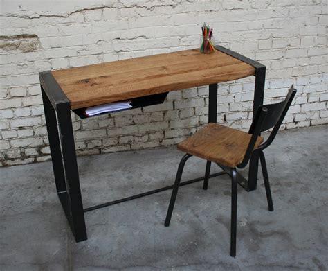 bureau bois metal bureau metal bois