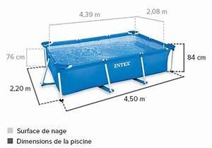 Preparation Terrain Pour Piscine Hors Sol Tubulaire : piscine tubulaire rectangulaire 4 50 x 2 20 x 0 84 m intex ~ Melissatoandfro.com Idées de Décoration