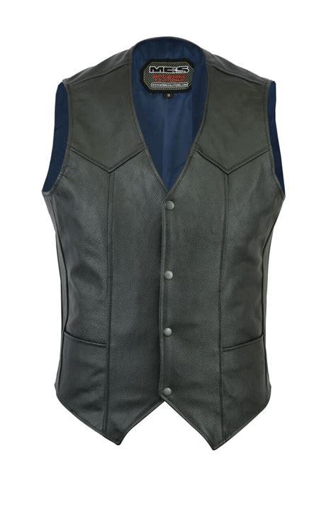 motorcycle vest cowhide leather motorcycle motorbike biker vest waistcoat