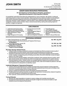 top human resources resume templates samples With human resources resume examples