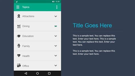 android ui android ui design kit for powerpoint slidemodel