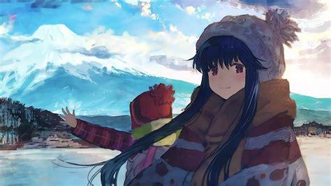 wallpaper anime yuru camp hd richi wallpaper
