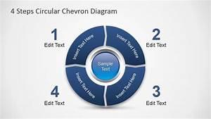 4 Steps Circular Chevron Powerpoint Diagram