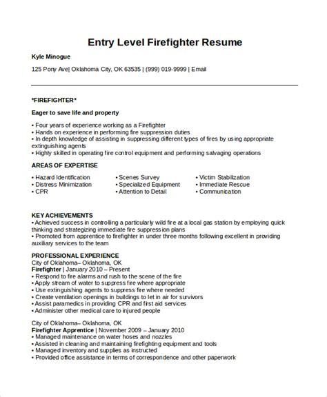 firefighter resume templates firefighter resume sle