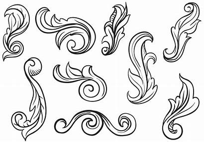Scroll Scrollwork Victorian Engraving Patterns Clipart Metal