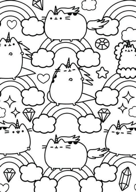 easy  print pusheen coloring pages tulamama