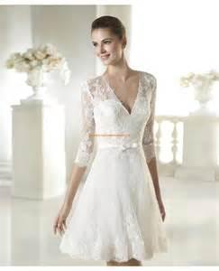 robe mariã e courte dentelle robe de mariée courte avec manches dentelle 2015