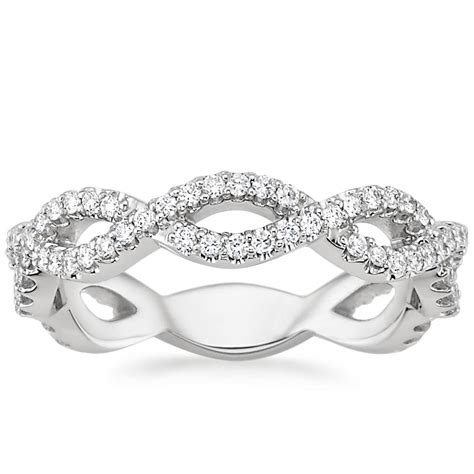 eternal twist diamond ring in platinum