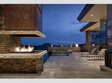 Outdoor Fireplace, Terrace, Jacuzzi, Modern Home in
