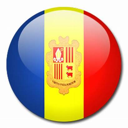 Flag Andorra Graphics Jancok Glossy Shape Round