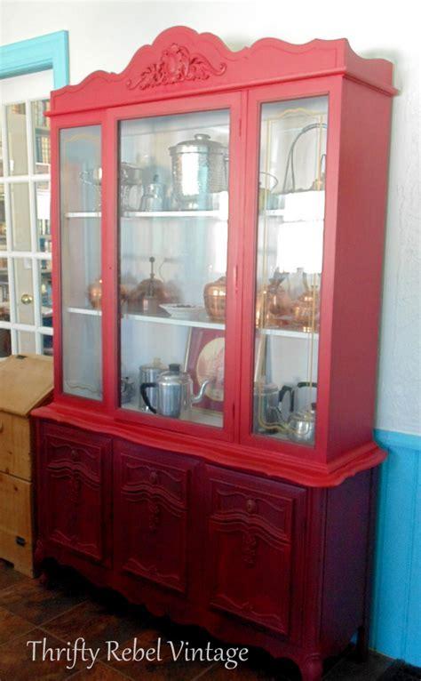 Kitchen China Cabinet Makeover   Thrifty Rebel Vintage