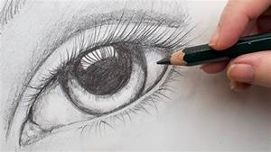 Realistic Eye Step By Step Pencil Drawing On Paper For