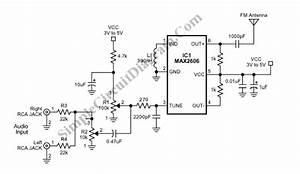 Single Chip Fm Transmitter  For Short Range Application Circuit Diagram World